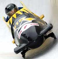 The Liechtenstein 2-man Bobsleigh team