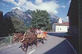 General view of Balzers, Liechtenstein