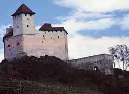Picture of the castle of Gutenberg above Balzers, Liechtenstein