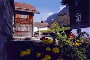 General village view of Planken, Liechtenstein