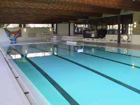 The indoor swimming pool in Triesen, Liechtenstein