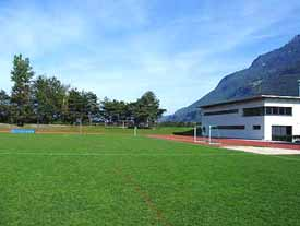 Blumenau sports complex in Triesen, Liechtenstein
