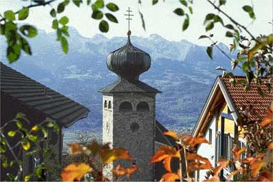Triesenberg church, Liechtenstein