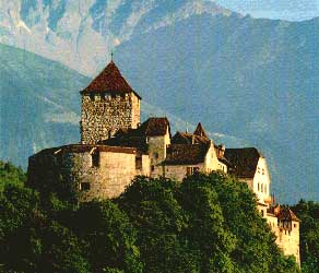 The castle of Vaduz, residence of the Princes of Liechtenstein