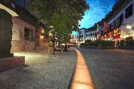 The 'City' of Vaduz at night