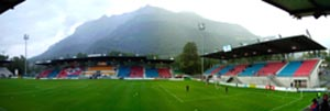 The football stadium in Vaduz
